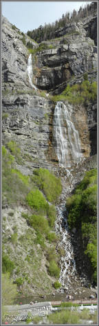 Bridal Veil Falls (Utah) Vertical Panoramic