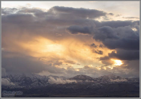 Sunset Over The Oquirrh Mountains