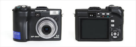 Olympus SP-350 Front and Back
