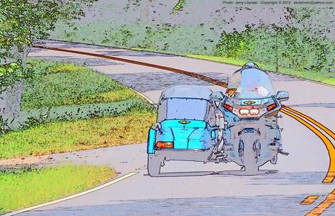 Travelin' with a side-car