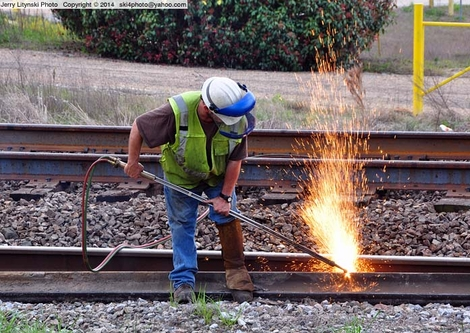 A CSX worker at work