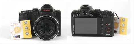 Kodak EasyShare Z980 - Front and Back