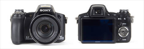 Sony Cybershot DSC-H50 - Front and Back