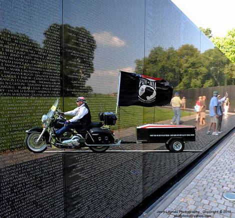 The Wall That Heals with a escort