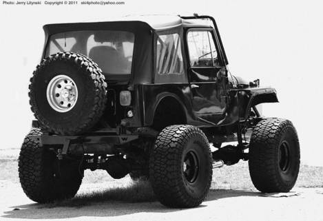 Moderate 'Big Wheels' on a Jeep