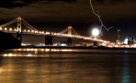 Storm by the Bay - Oakland Bay Bridge
