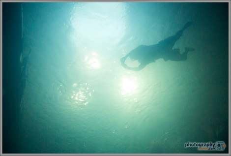 Silhouetted Swimmer - Nikon 1 AW1