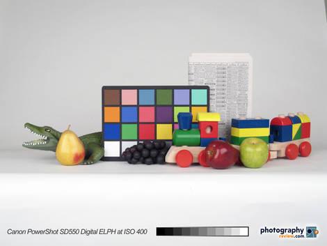 Canon PowerShot SD550 Digital ELPH Studio Test at ISO 400