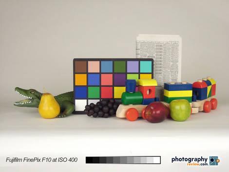 Fujifilm FinePix F10 Studio Test at ISO 400