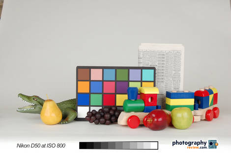 Nikon D50 Studio Test at ISO 800