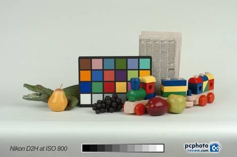 Nikon D2H ISO 800 Studio Test