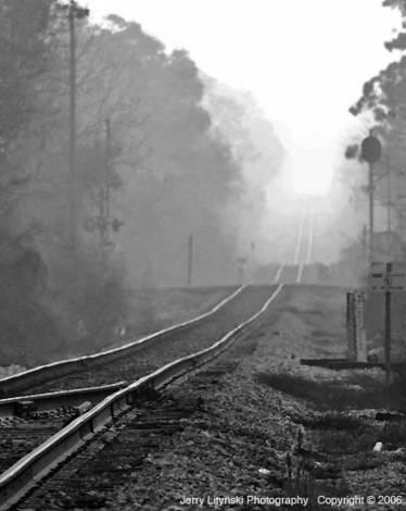 The CSX railroad tracks
