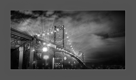 Vincent Thomas Bridge B&W