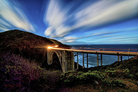 Night Bixby Creek Bridge