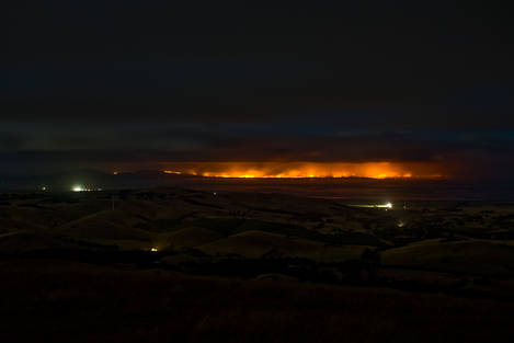 Bush Fires at Wilson's Prmontory