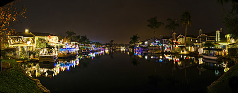 Holiday Lighting in the lake