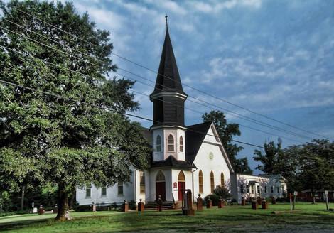 140 Year Old Methodist Church - Knotts Island NC