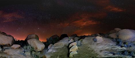 Panorama Night View of Desert