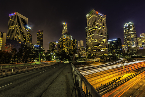 LA Downtown Night View