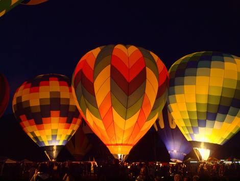 night balloon glow