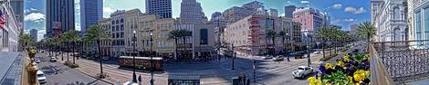 New Orleans - Canal St and Bourbon Street Panoramic