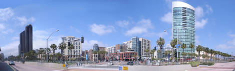 San Diego Gaslamp Quarter Panoramic