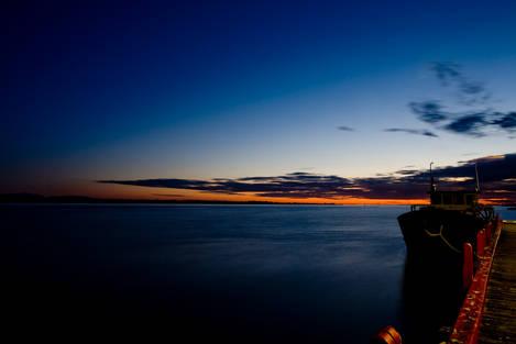 Twilight over the sea