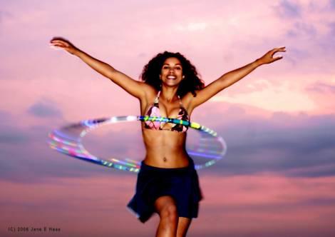 Mayra, Glowing Hoop Dancer...