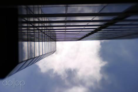Looking up Tower Lane