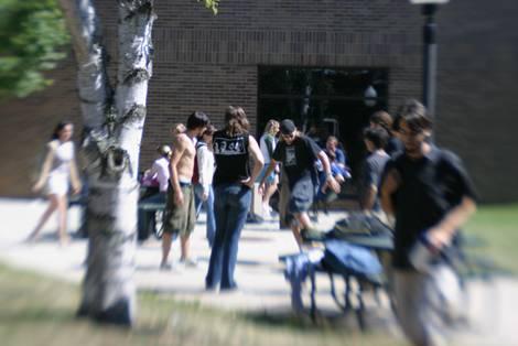 university sacball at noon