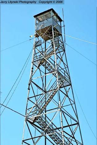 A not-in-use fire tower
