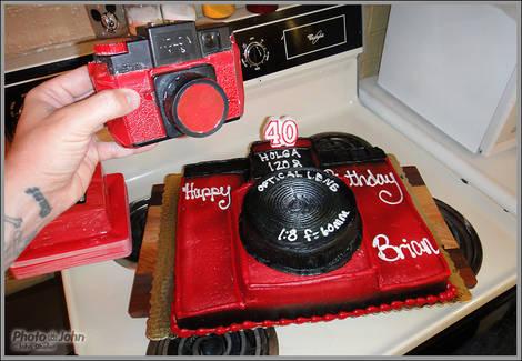 Holga Birthday Cake...