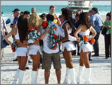 Miami Dolphins Dancers and Photographers