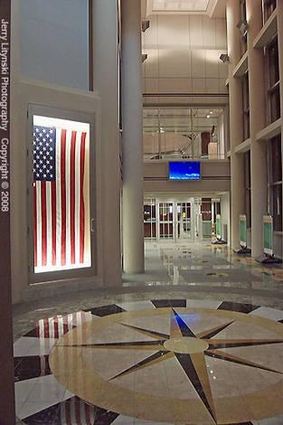 A bank lobby