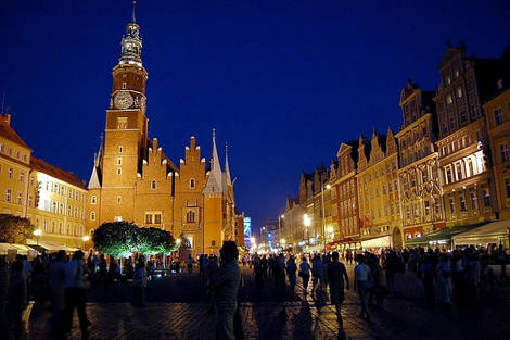 the old square Wroclaw