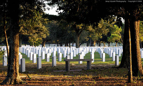 Part of the Barrancas National Cemetery