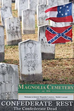 Images from a Confederate cemetery