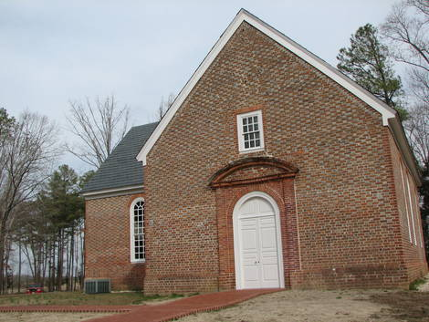 ST. JOHN'S CHURCH - CIRCA 1734 -  RICHMOND, VIRGINIA