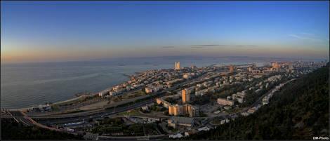 Panorama of Haifa harbour