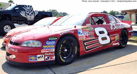 A Chevy Monte Carlo in NASCAR mode