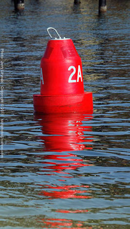 A red bouy