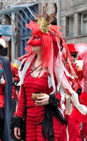 On Fat Tuesday - in a street parade
