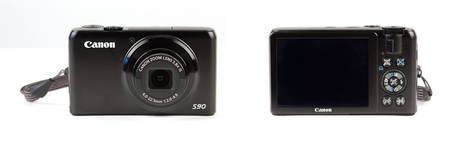Canon PowerShot S90 - Front & Back