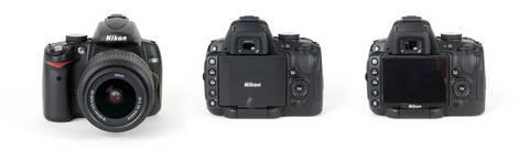 Nikon D5000 DSLR - Front and Back