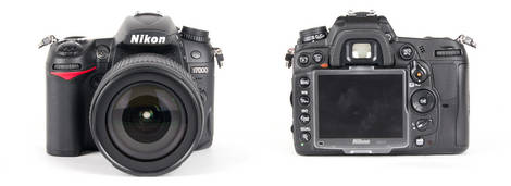 Nikon D7000 Digital SLR - Front and Back