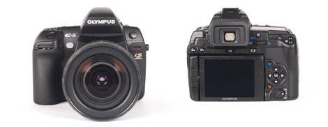 Olympus E-5 Digital SLR - Front and Back