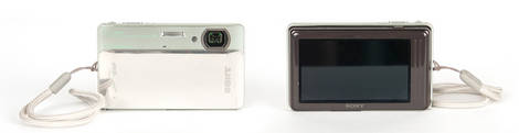 Sony Cybershot TX5 Waterproof Camera - Front & Back