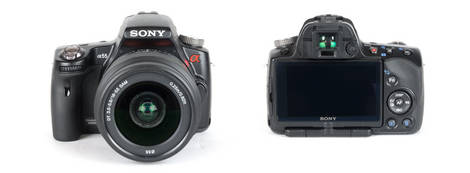 Sony Alpha SLT-A55 - Front and Back