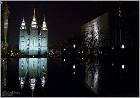 Temple Square - Canon EOS-1D Night Sample