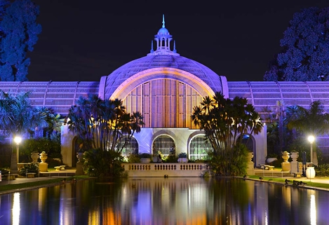 Christmas Lighting in Balboa Park